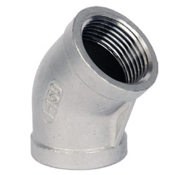 BSP 45 deg Elbow 316 to ISO 4144