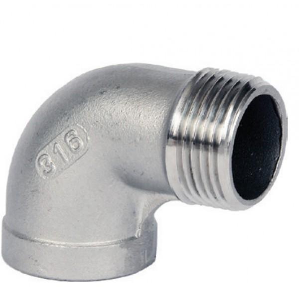 BSP M/F 90 deg Elbow 316 to ISO 4144