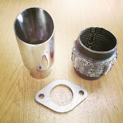 Stainless steel flexi for exhaust