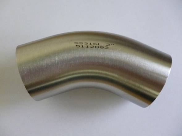Hygienic 45 deg Bend 316 to BS4825 PART 2 (Polished)