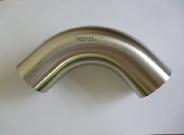 Hygienic 90 deg Bend 316 to BS4825 PART 2 1.5D (Polished)